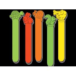 Abaisse-langue colorés en plastique - 50 pièces
