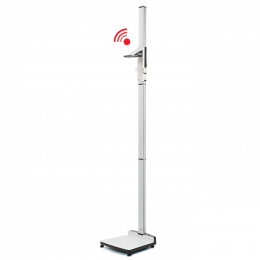 Stadiomètre sans fil avec ligne de Francfort et butée de talon Seca 274 - 360° wireless