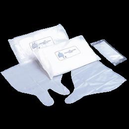 Doigtiers polyéthylène pliés 1 ou 2 doigts non stériles (sachet de 100)