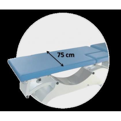 Sellerie largeur 75 cm pour divan d'examen Promotal Quest Cardio