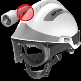 Suppport lampe pour casque de protection F2 XTREM