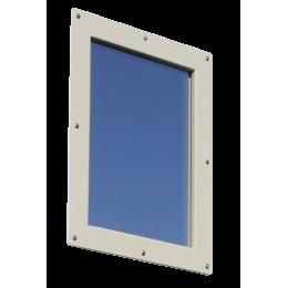 Option Oculus anti-X pour porte plombée 30x40 - Bloc porte pivotant PB 1 ou 2 mm