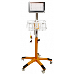 Chariot de transport pour tablette numérique pour système Cardioline Touchecg