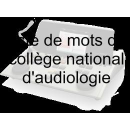 Clé USB avec liste de mots du collège National d'audiologie pour Interacoustics