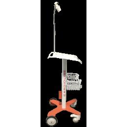 Chariot de transport avec bras pour ECG Cardioline 100S et 100+