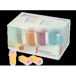 Aiguilles de sécurité stériles Surgilance G26 pour test d'Hémoglobinomètre (boite de 100)