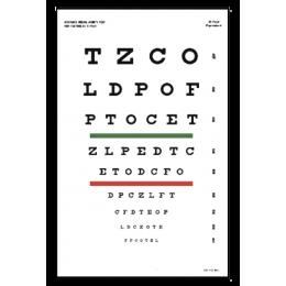 Tableau optométrique Snellen
