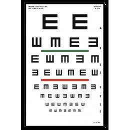 """Tableau optométrique Tumbling """"E"""" (6 mètres)"""