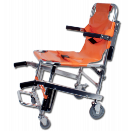 Chaise portoir d'évacuation PVS 4 roues