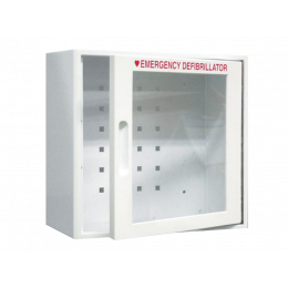 Boîtier mural intérieur avec alarme sonore pour défibrillateurs IPAD et Def-NSI