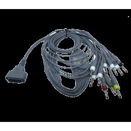 Câble ECG à fiches bananes pour Edan PADECG